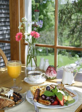 New England Bed and Breakfast Gourmet Breakfast - Vermont