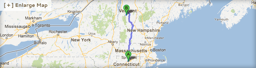 Directions from Hartford, CT
