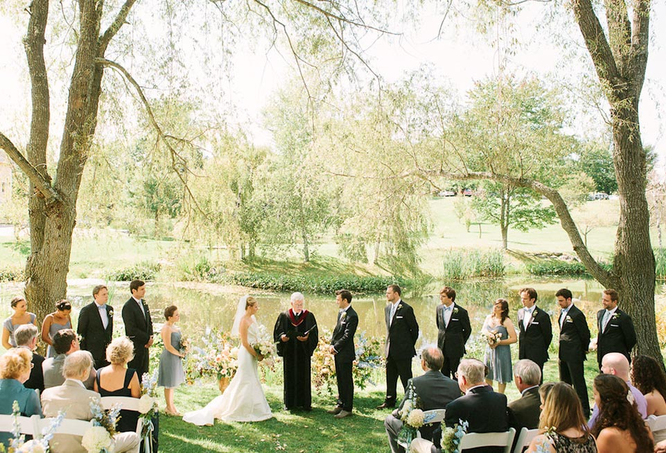 A Wedding at The Inn at Round Barn Farm - the ceremony