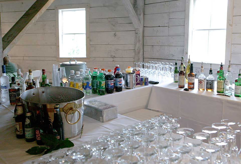 Vermont Events - a wet bar is set up