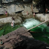 Epic swimming hole during Vermont summer vacation
