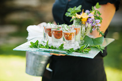 We have catering options for all of our on site Vermont gay weddings.